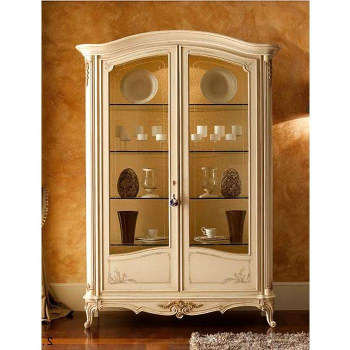 French Country Display Cabinet White