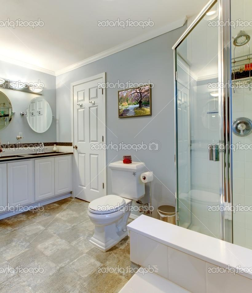 Grey and white bathroom photos for Modest bathroom remodel