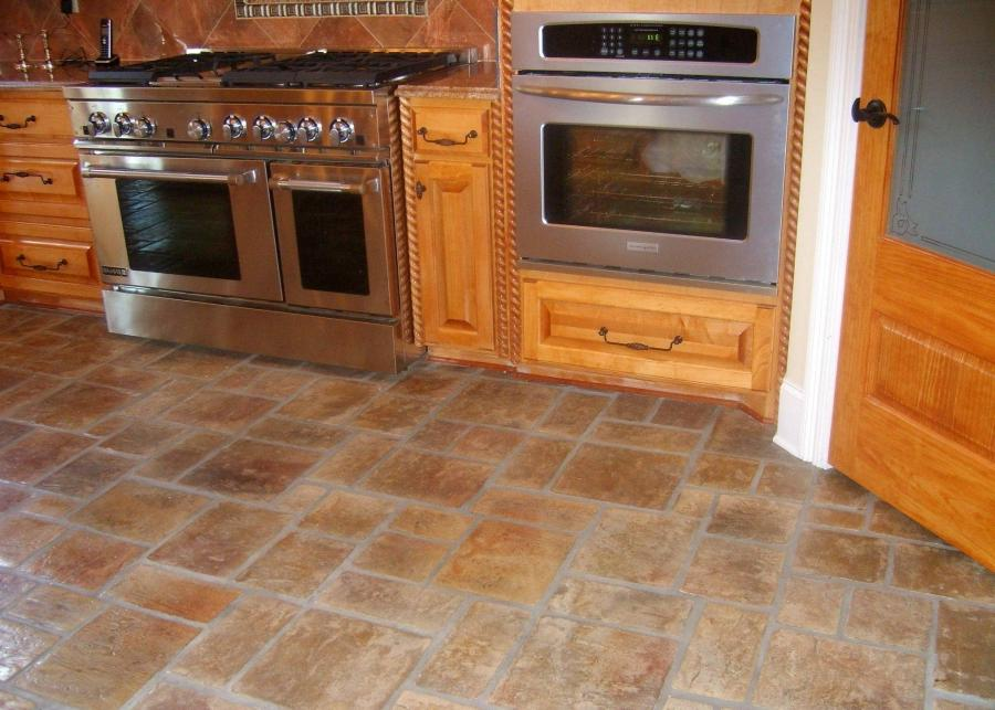 Uncategorized Brick Stone Kitchen Floor Stunning Floor Designs...
