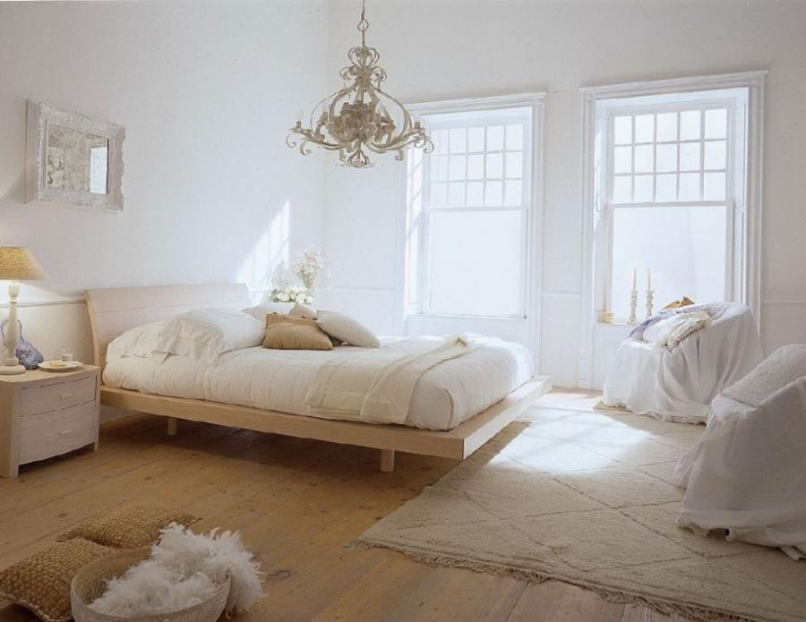 Creative White Bedroom Ideas With Comely Arrangement