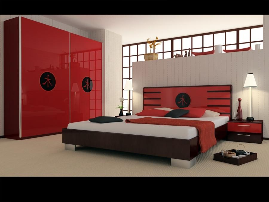Photos of red bedrooms for Bedroom cupboard designs and colours