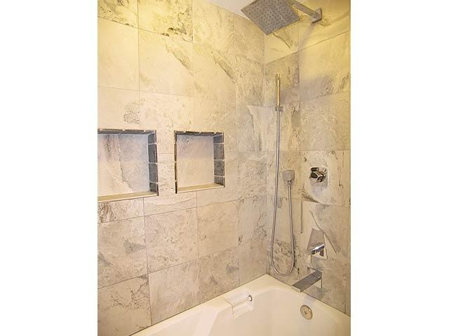Another view of the master bathroom shower showing the upgraded...