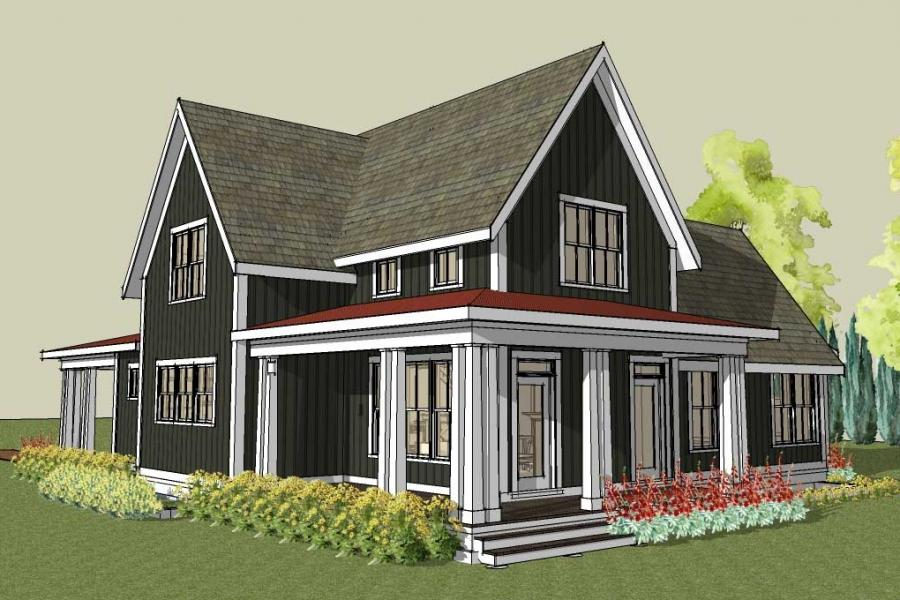 Simple country house plans with photos for Simple house plans with wrap around porches