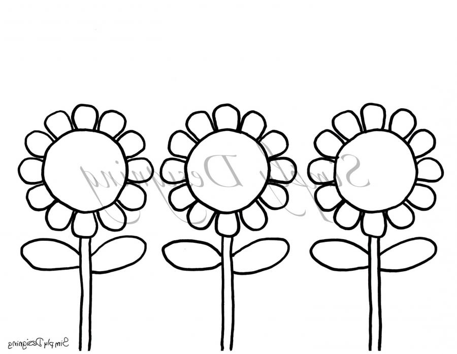 coloring pages flower petals - photo#28