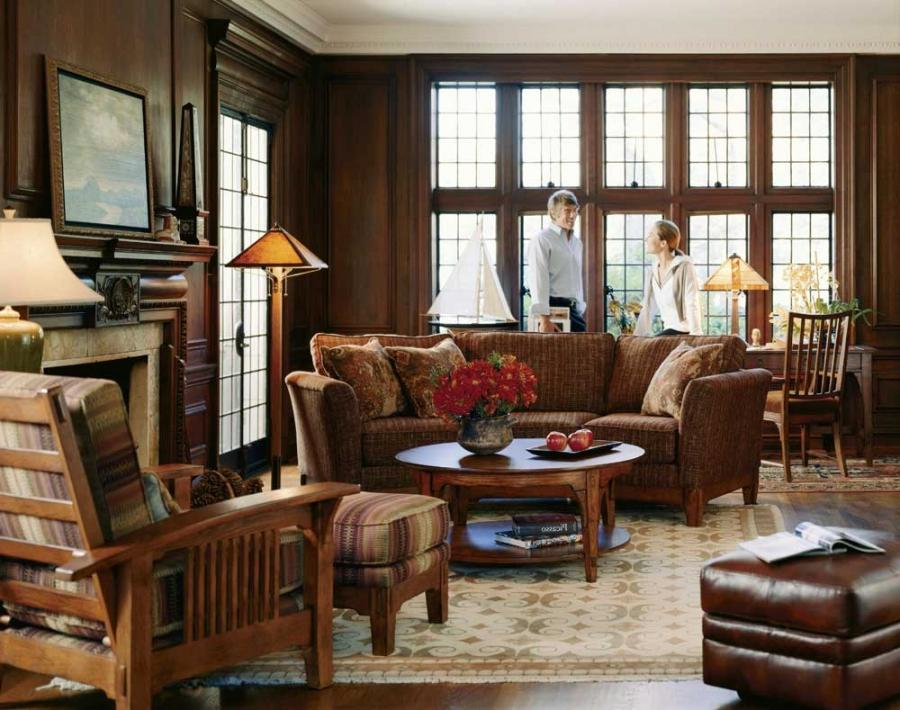 Country cottage living room photos