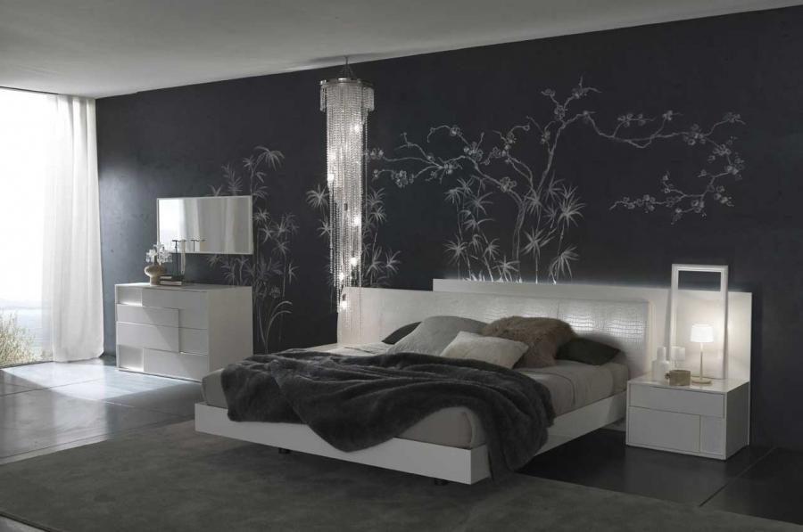 Chic Black Bedroom Inspiration With Wall Art listed in: