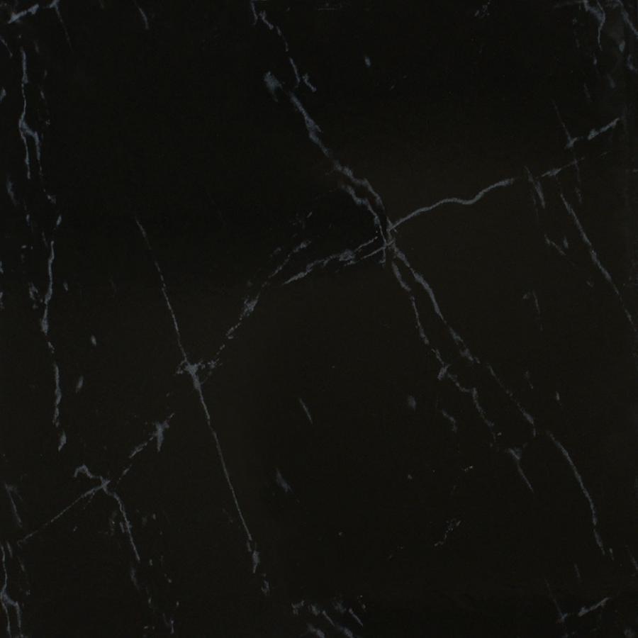Big black floor tiles