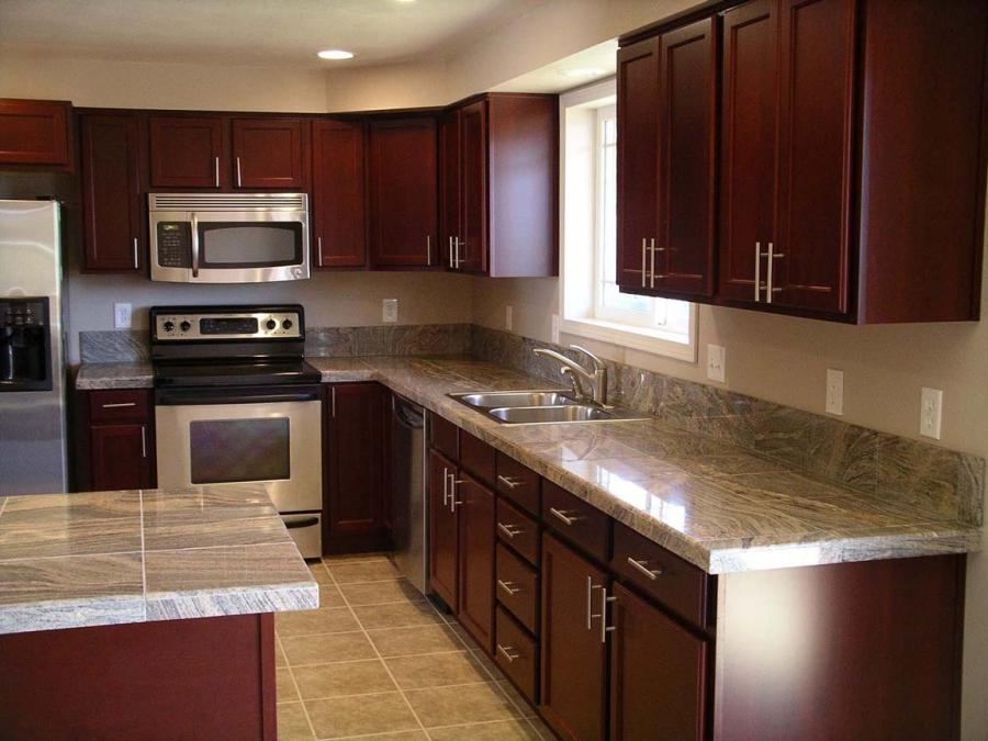 Granite tile kitchen counter photos for Kitchen designs namibia