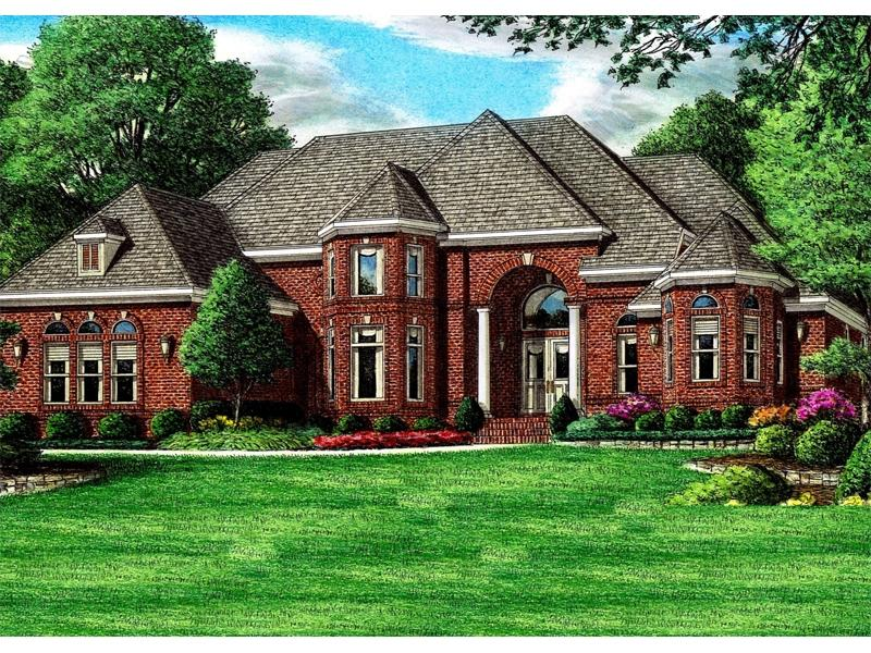 Brick mansion photos for Luxury brick house plans