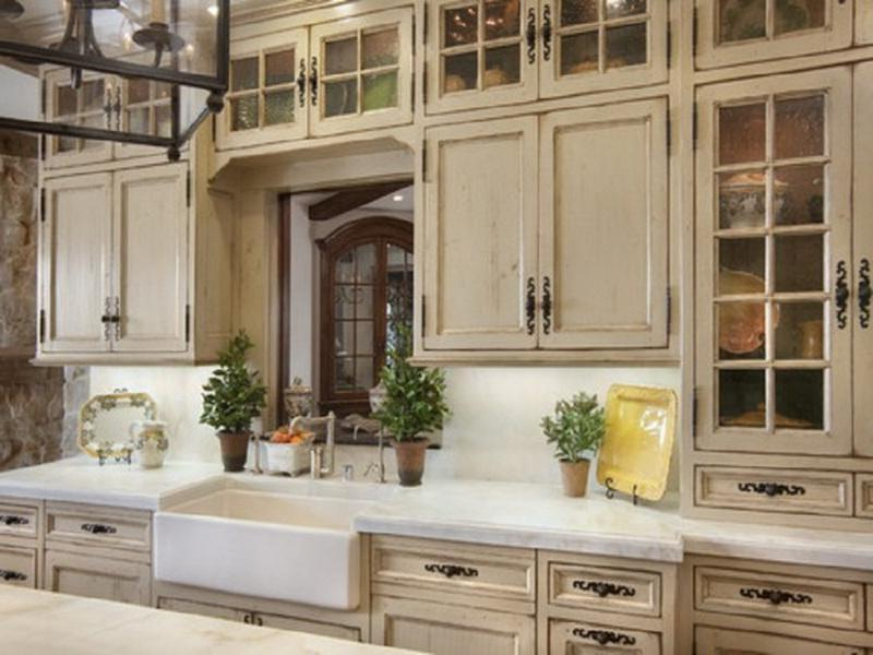 Country French Kitchen Cabinets Oak Wood Furniture Uploaded by...