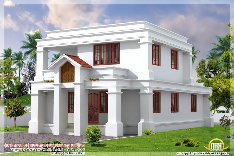 Cute flat roof indian home elevation 1630 sqft kerala home source
