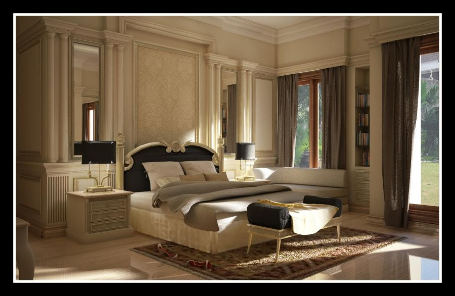 Luxurious Modern Classic Interior Bedroom Decorating Ideas 458...