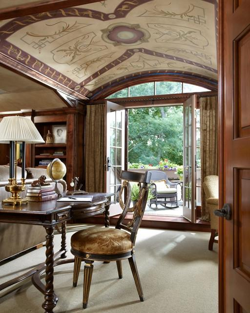 Timeless Tudor Estate Traditional Home Office Minneapolis
