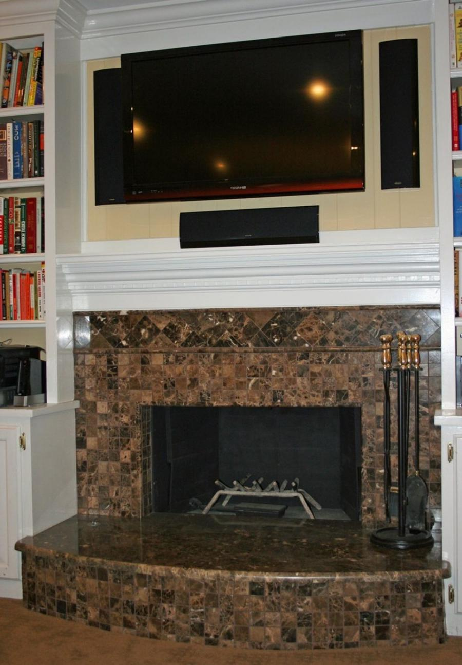 Tile over brick fireplace photos - Tile over brick fireplace ...