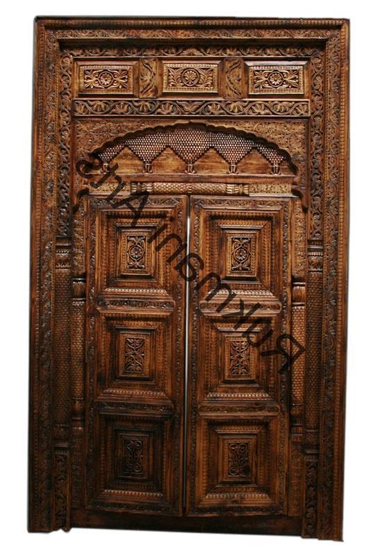 Teak wood door designs photos for Teak wood doors