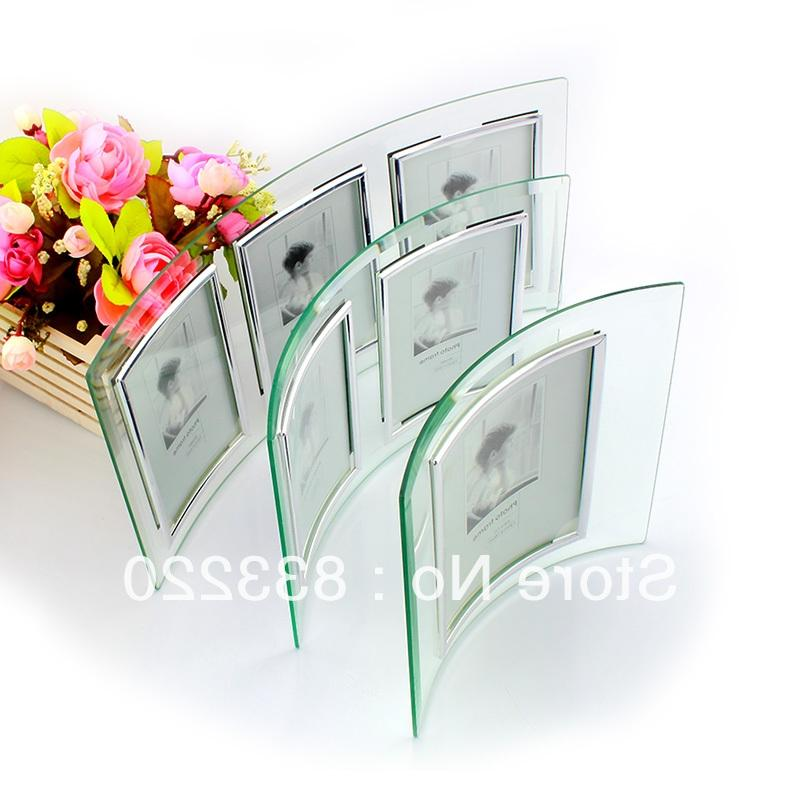 Curved glass photo frame 10x8