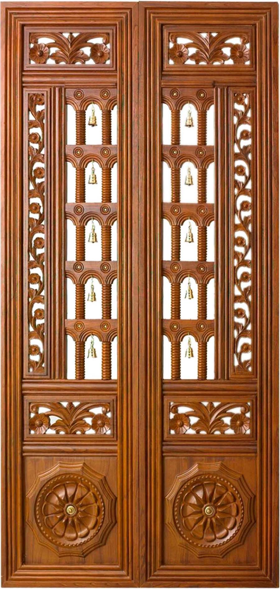 Bavas Wood Works Pooja Room Door Frame And Door Designs: Pooja Door Design Photos