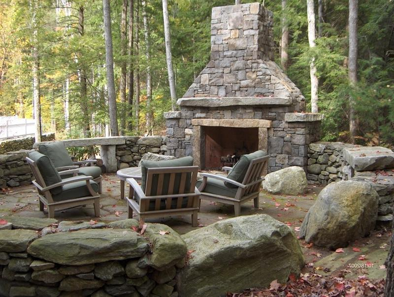 Photo Gallery Of Outdoor Fireplaces