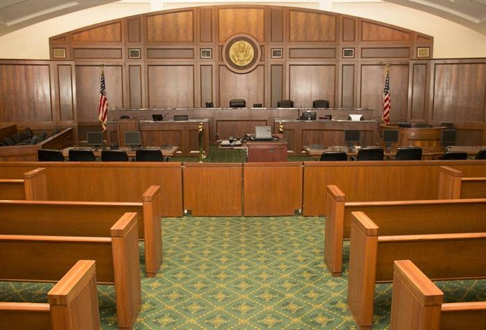 Witness Stand, Gallery, Federal Courtroom