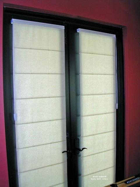 Photos Of Roman Shades On French Doors