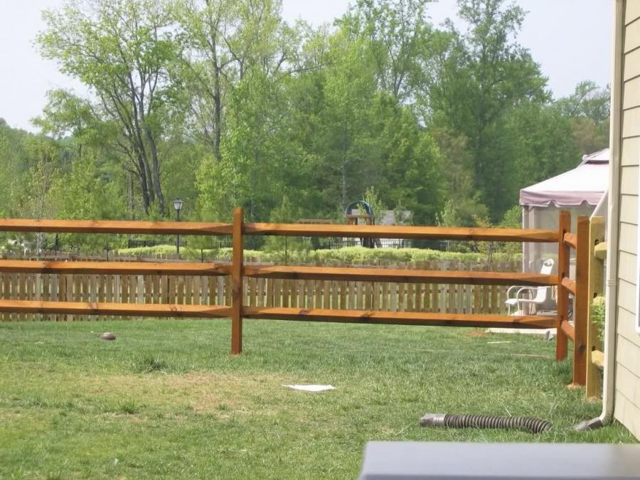 Photo Fence Split Rail