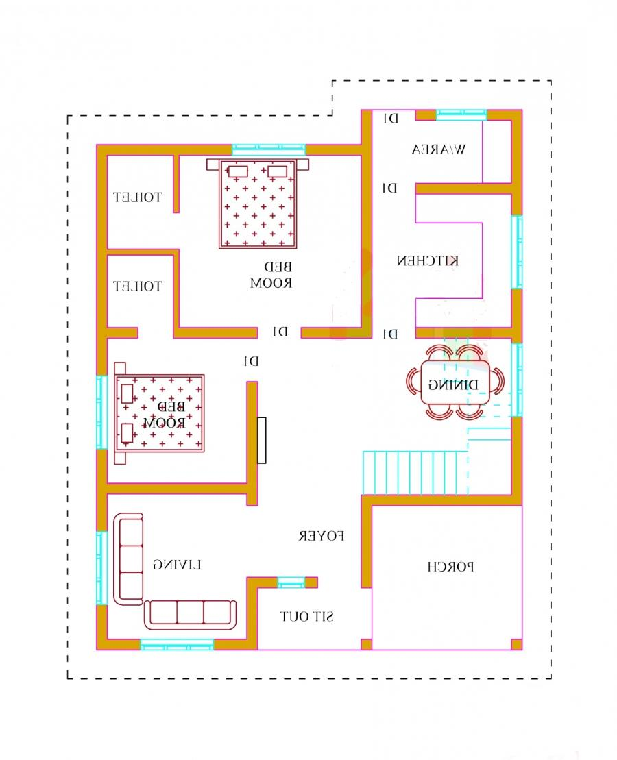1500 sq feet house plans with photos in india for Floor plan cost estimator