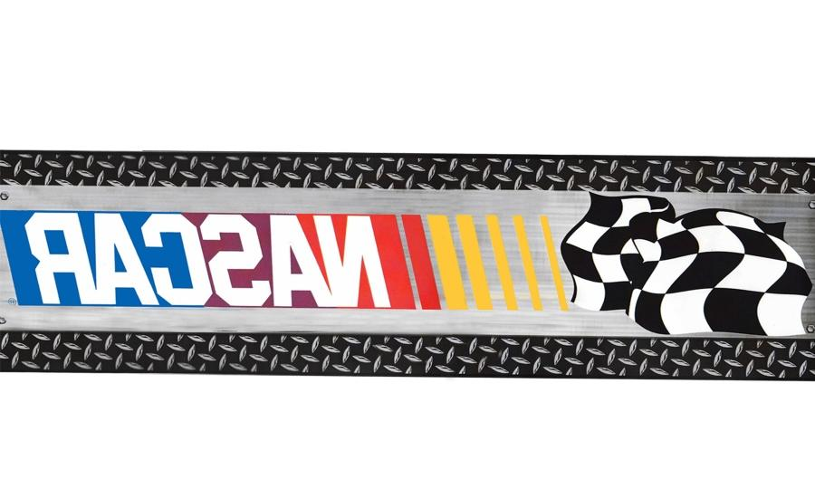 Nascar Checkered Flag Prepasted Wall Border Roll: Nascar Photo Finish Bed In A Bag