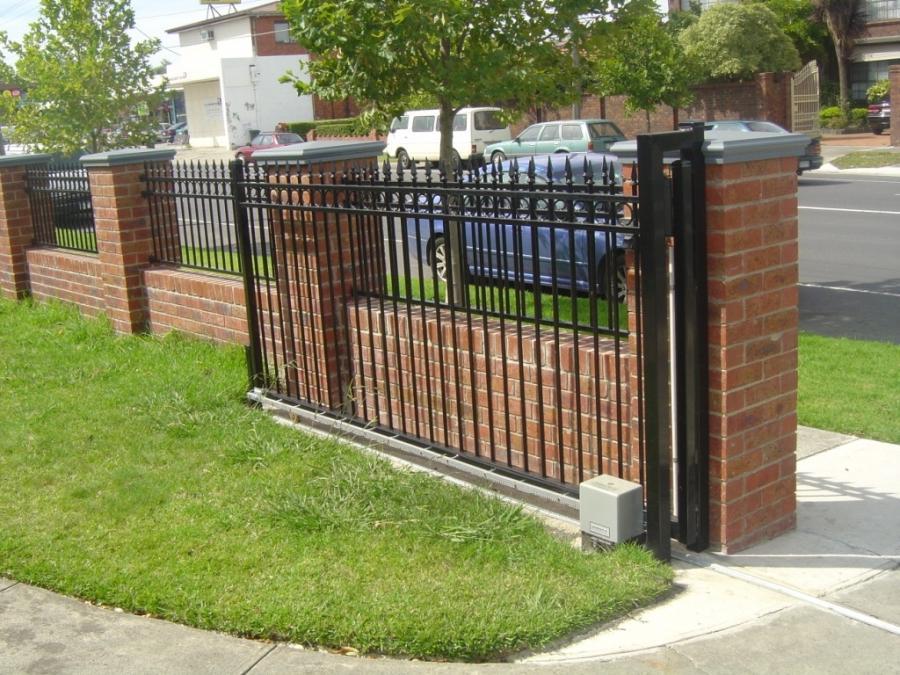 Brick fence design photos
