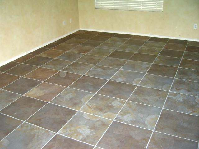 Tile floor for bathroom