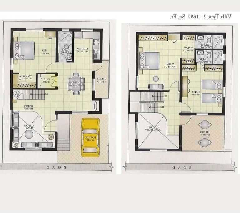Indian house plans with photos Duplex house plans indian style