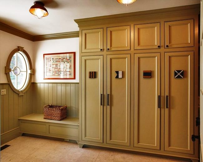 Modern Multi-Purpose Mud Rooms by Connecticut Custom Home...