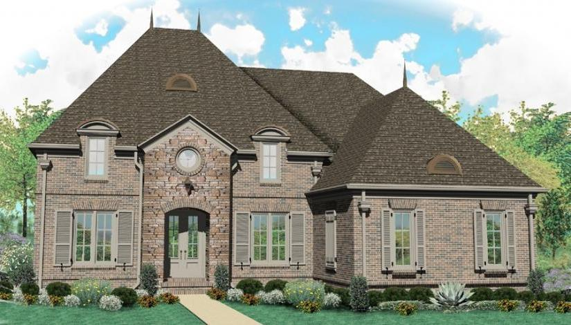 Country french house plans with photos for Two story french country house plans