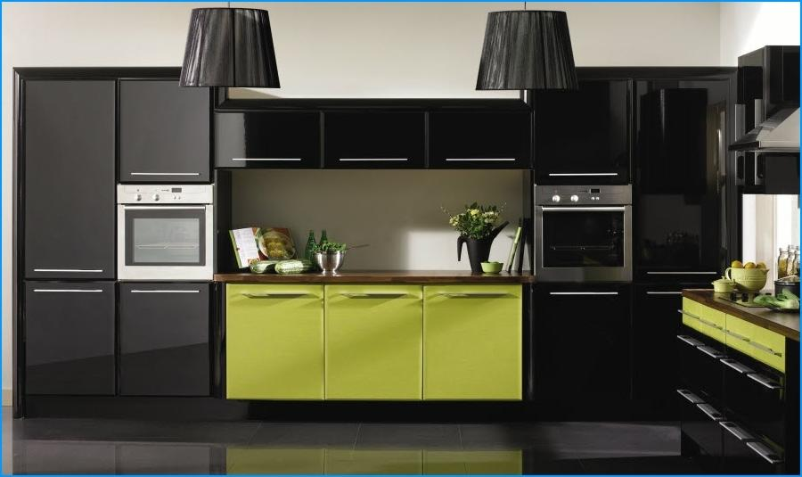 Lime green kitchen photos - Black and lime green kitchen ...
