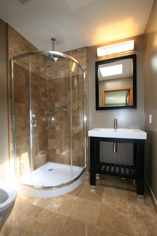 Craftsman Style Strategic Space Planning Guest Bathroom Remodel