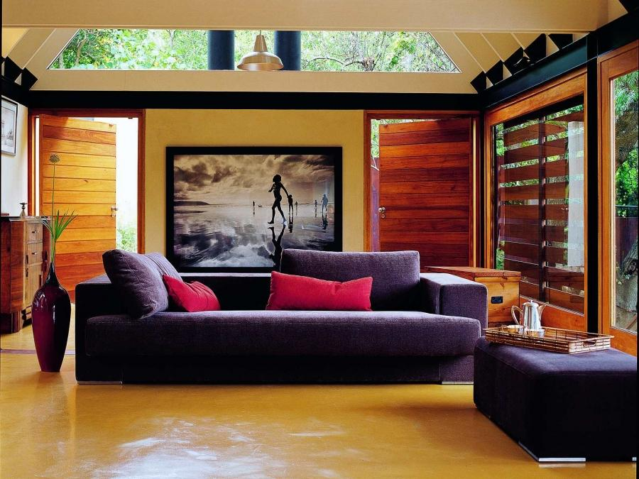 Interior cozy and fort living interior design with sofa