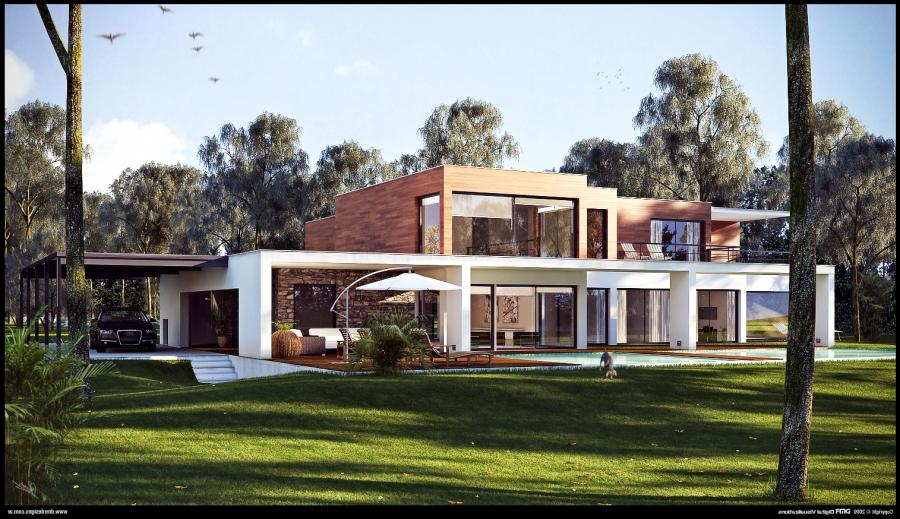 Beautiful Trendy House Wip By Diegoreales listed in: modern House...