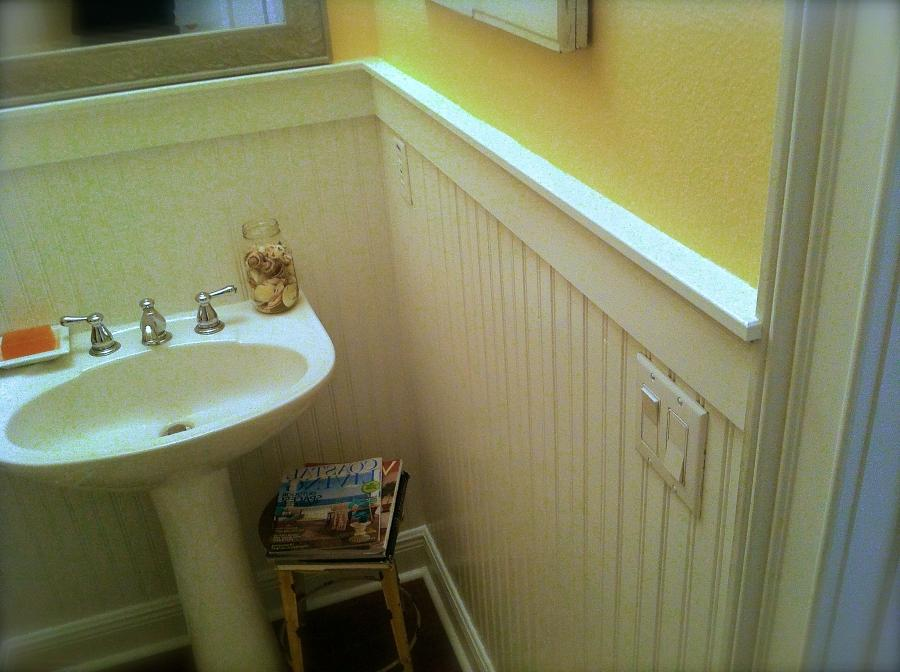 How to install beadboard in bathroom
