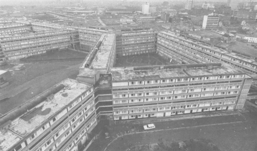 Divis Street flats - scene of one of Brian Anson`s architectural...