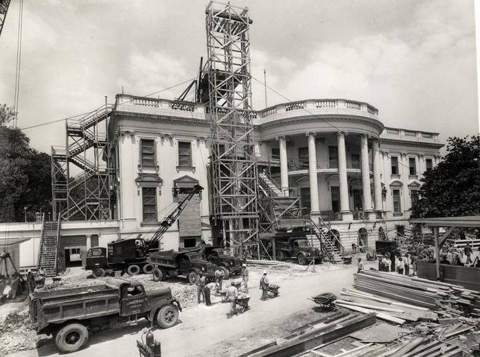 Photos White House Reconstruction