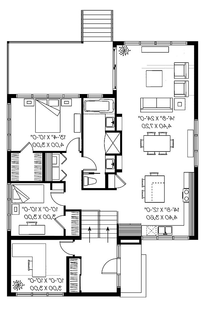 Split level house plans with photos for Split plan house designs