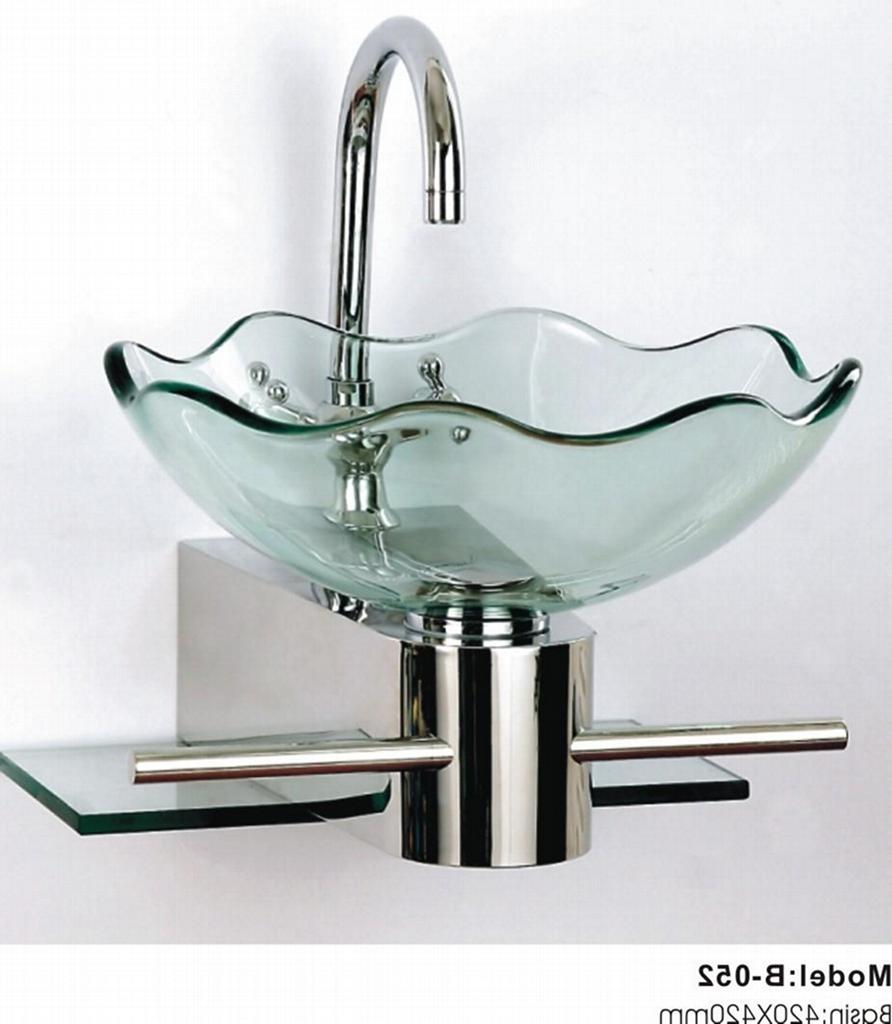 how to clean glass wash basin