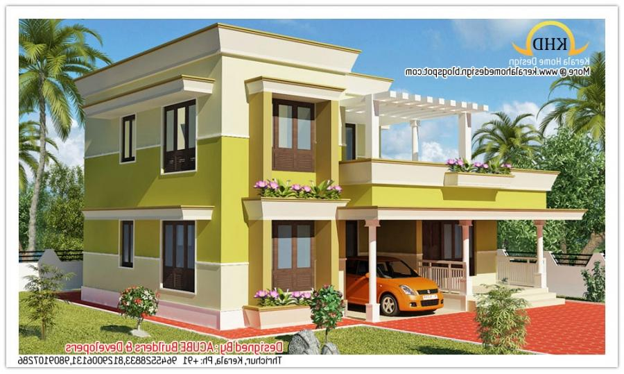 2200 sq feet minimalist tamilnadu style house kerala home for Minimalist house kerala