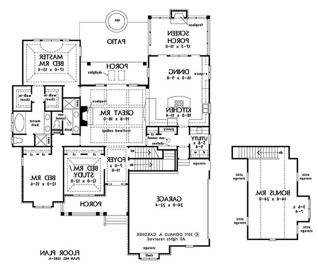 Donald gardner house plan photos for Gardner floor plans