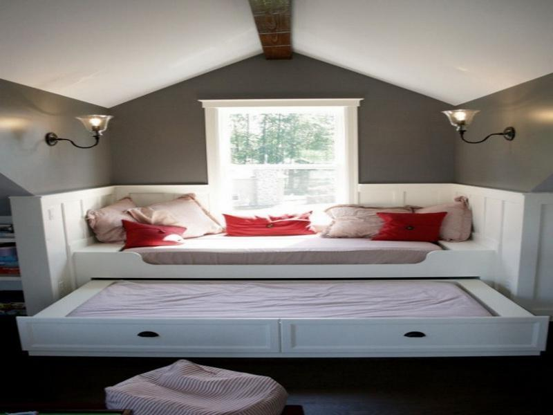 Fresh Small Attic Bedroom Inspirations With Built Ins With Cute...