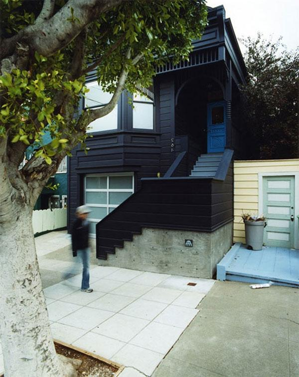 blue black monochrome victorian house 2 Eye Catching Victorian...