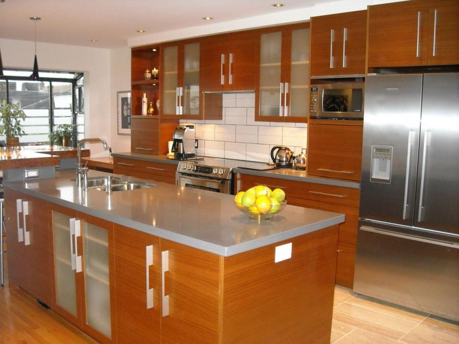 There are two famous designs the first is the L- shaped kitchen...