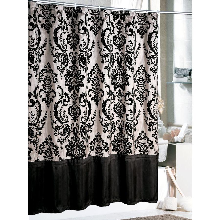 Curtains ideas black white shower curtain inspiring for Black and white curtain designs