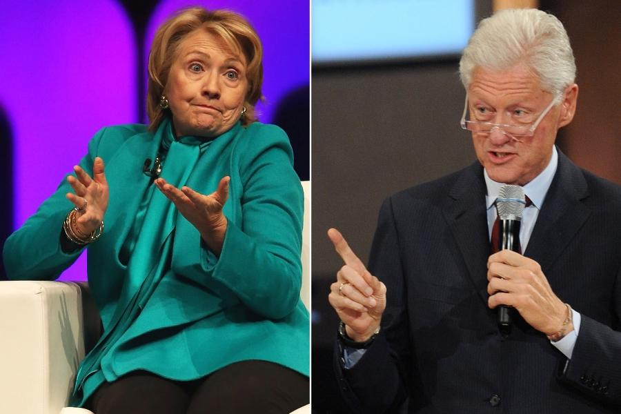 Hillary Clinton says she and Bill struggled to make ends meet...