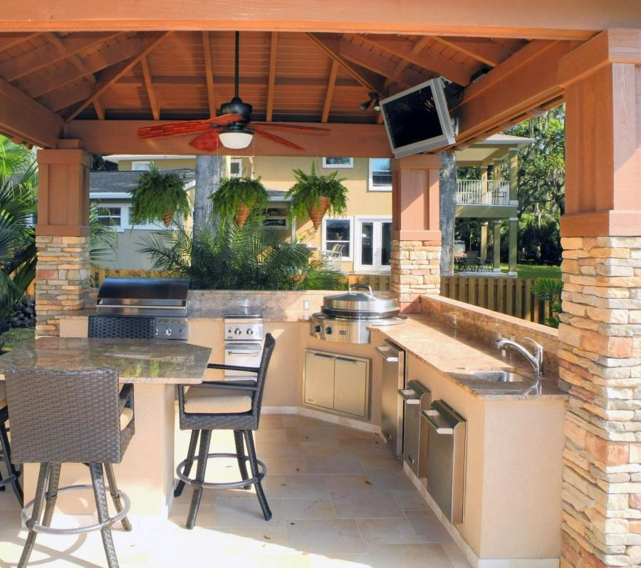 Luxury outdoor kitchens photo gallery for Luxury outdoor kitchen