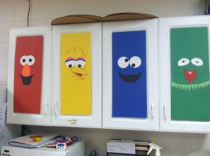 Classroom Cabinet Design ~ Preschool classroom decorating ideas photos